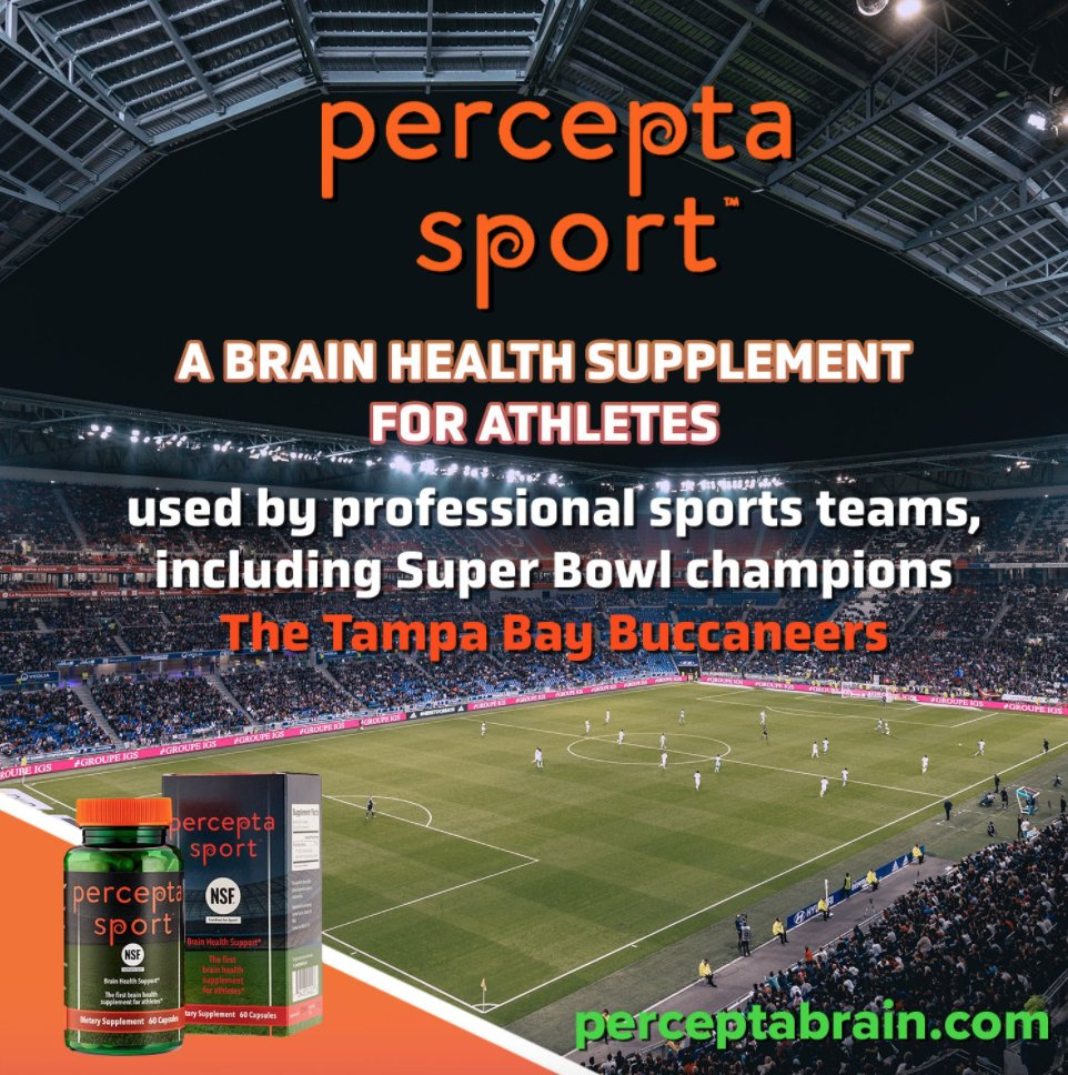 Did you know that #SuperBowlLV champions, #TampaBayBuccaneers, are one of the teams that include Percepta Sport™ in their daily regimens? #PerceptaSport is postulated to improve memory, focus, and athletic performance.   #GoBucs #brainhealth