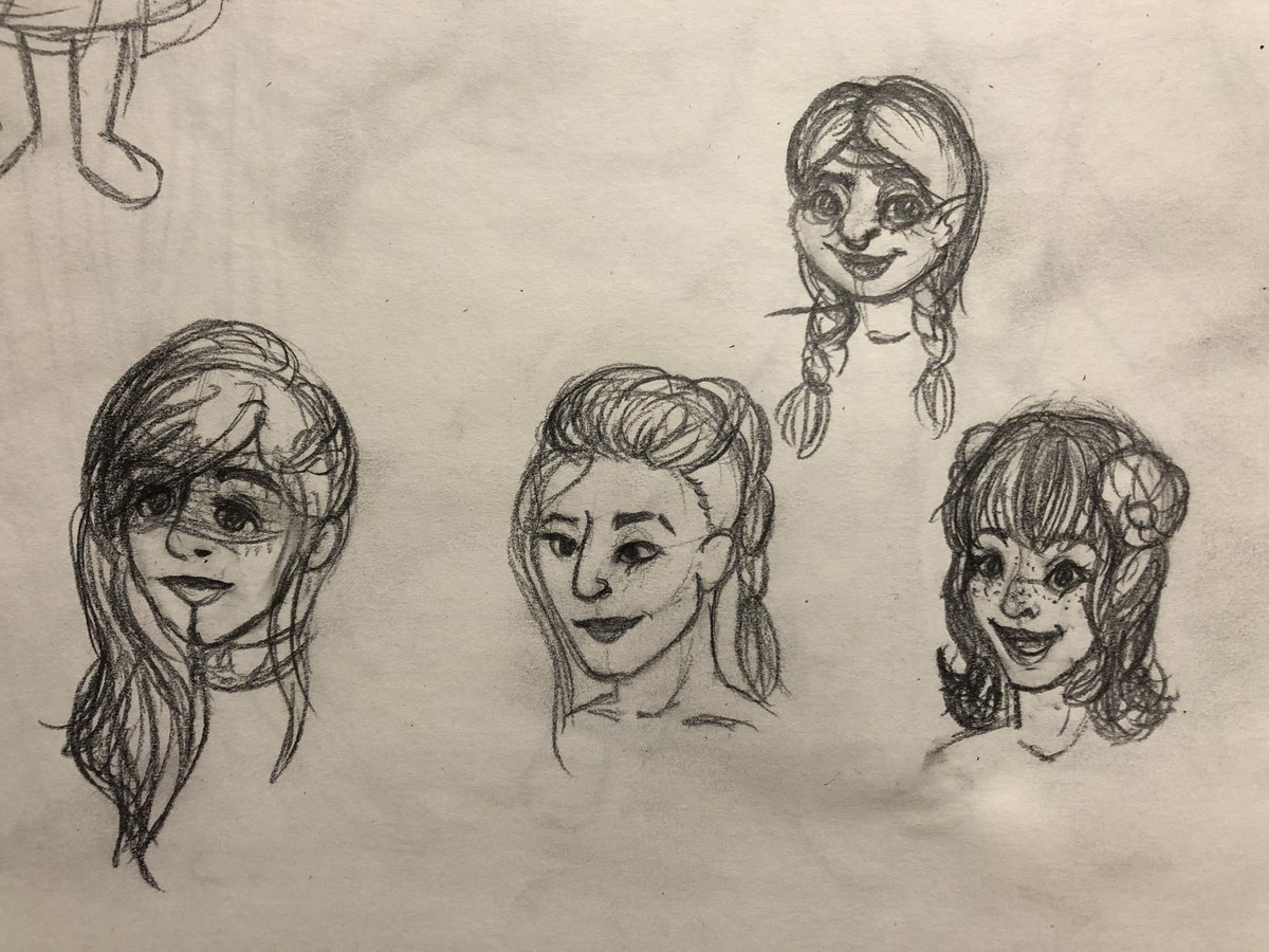 Did some quick messy doodles of the M9 ladies while in meetings today 🤩 #CriticalRole #criticalrolefanart