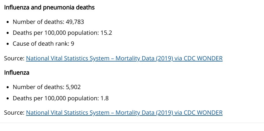 For all those hoaxers about Covid, it has been one year, deaths in the USA are 520,000. Here are the stats on annual flu in the USA. So yeah, it is not just a flu. #COVID19