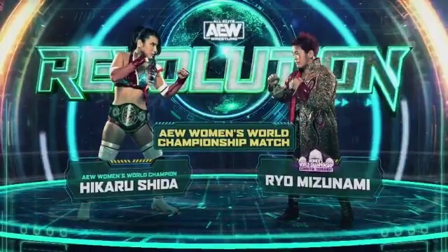 It all comes down to this! This Sunday, March 7th LIVE at #AEWRevolution, the #AEW Women's world champion @shidahikaru defends her title against the winner of the #AEW Women's eliminator tournament @mizunami0324   Watch #AEWRevolution LIVE on PPV 8/7c