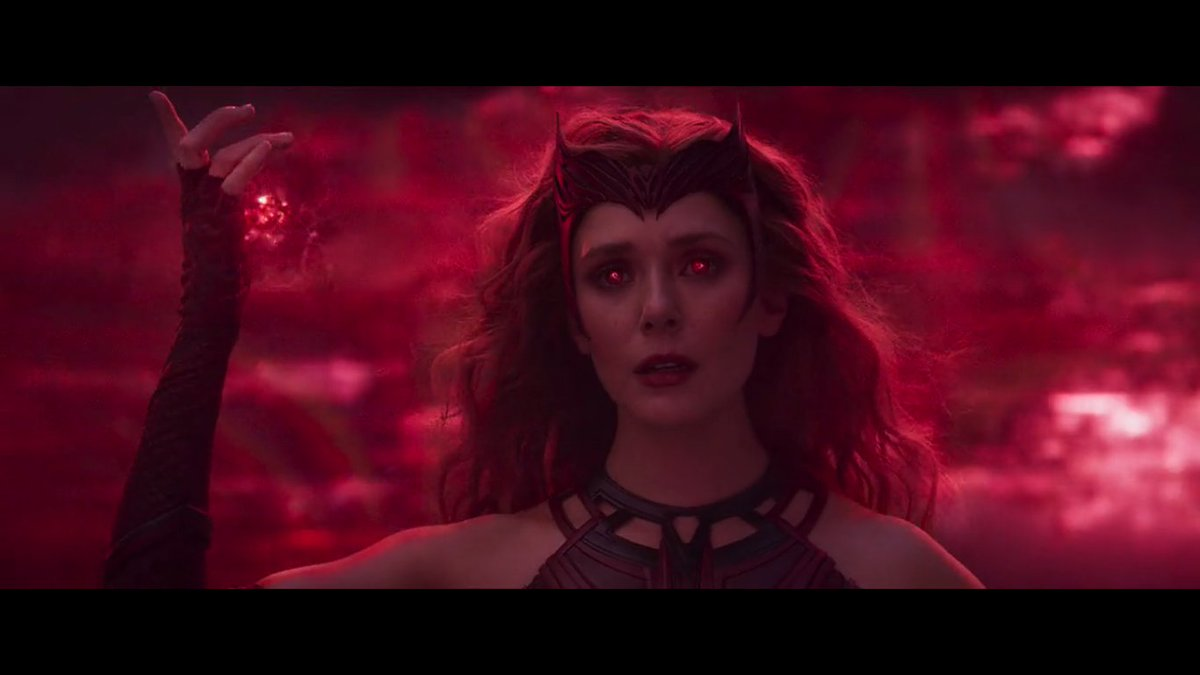 THAT'S A QUEEN WITH HER CROWN! DON'T FORGET HER NAME: WANDA MAXIMOFF, THE SCARLET WITCH!👑♥️  #WandaVision #WandaVisionFinale