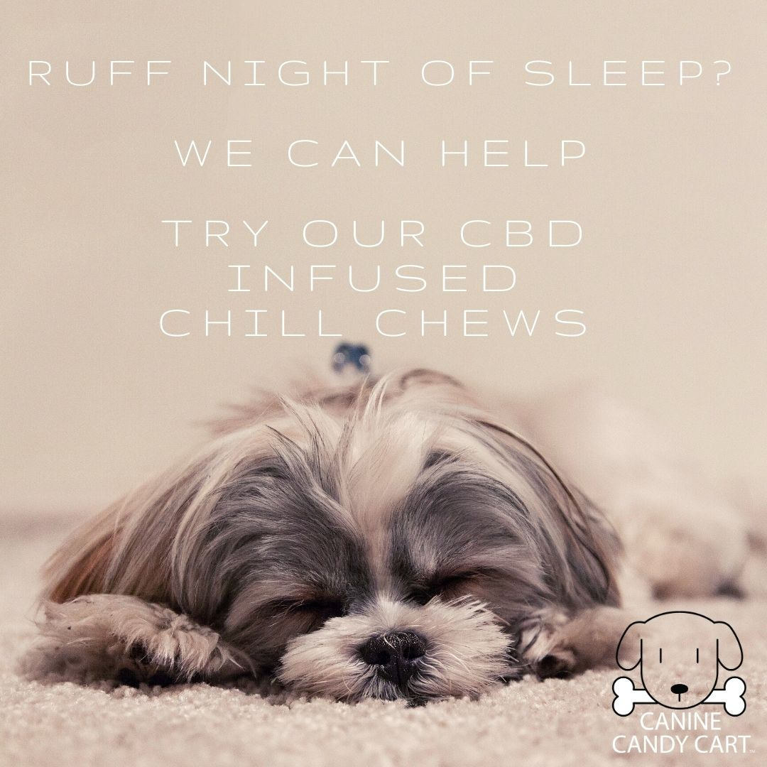 Help your Pup Relax & Chill out with Our CBD infused Chill Chews🐶🍃💤💯%All Natural & Organic ✅ To know more visit  #caninecandycart #dogtreats #freshbaked #allnaturaldogtreats #pawmise #freshdogtreats #organicdogtreats #yummy #FridayFeeling