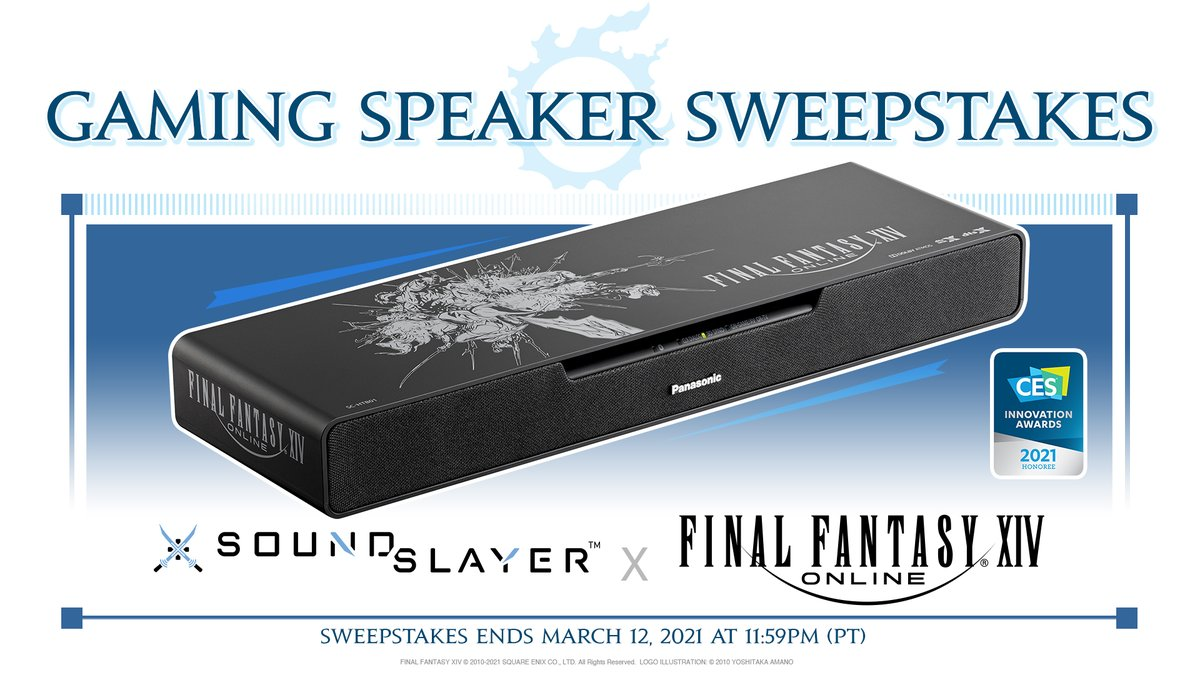 🇺🇸 🇨🇦 Win an #FFXIV-themed Panasonic gaming speaker to celebrate its release! 🔊  To enter, craft a Tweet with: 1️⃣ Your fave musical moment in FFXIV 2️⃣ #FFXIVSpeakerSweepstakes & @FF_XIV_EN 3️⃣ Your in-game character name & World  Full terms and conditions: