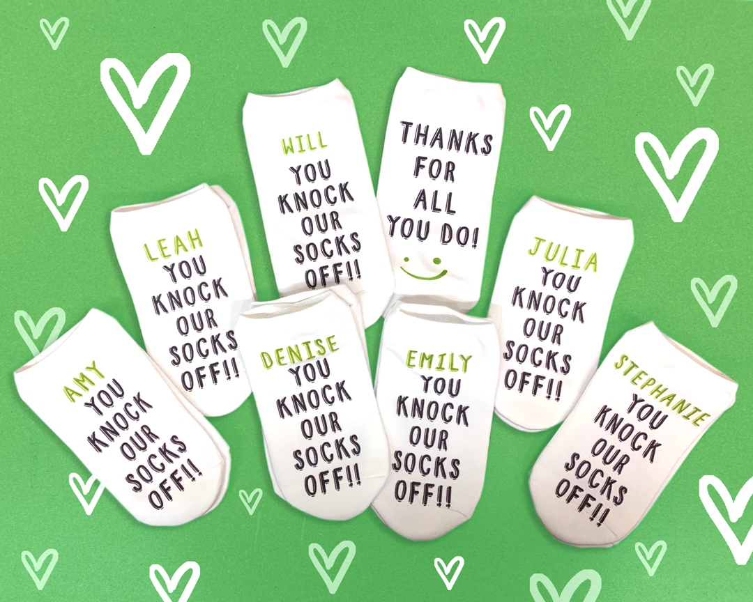 one of the secrets behind our custom printed socks... is our amazing employees! 💚   in honor of #employeeappreciationday, we're giving away a $50 @sockprints gift card on our instagram! comment someone who you appreciate to enter. 🤗  🎟️ enter here: