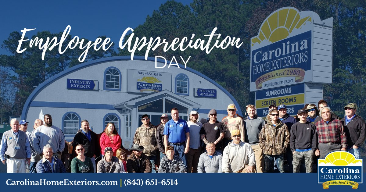 This National Employee Appreciation Day, we are reminded of how spectacular of a team we have. Thank you for all of your continued hard work!   #EmployeeAppreciation #EmployeeAppreciationDay #ProudofOurTeam
