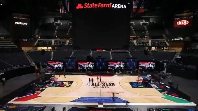 #NBAAllStar 2021 Court Timelapse 🤩  All of All-Star in One Night, Sunday, TNT:   🌟 5:00pm/et: TNT NBA Tip-Off presented by CarMax  🌟 6:30pm/et: #TacoBellSkills & #MtnDew3PT 🌟 8:00pm/et: 70th #NBAAllStar Game 🌟 Halftime: #ATTSlamDunk