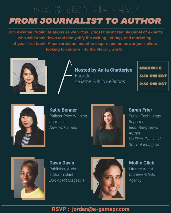 For journalists thinking of writing a book (which is to say, journalists), this sensational panel is for you. (And yeah, I'm biased, @mollieglick is my agent, and she rocks.) @ktbenner  @bonappetit Editor-in-Chief and @simonschuster alum Dawn Davis  @sarahfrier  @Anitachatterbox https://t.co/pmIOqi1fh7