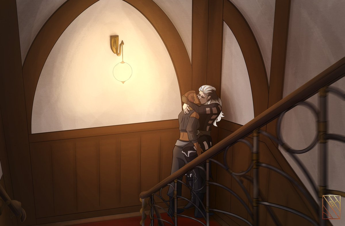 Replying to @Iddstar: In the stairway. #Beauyasha #CriticalRole #CriticalRoleSpoilers #CriticalRoleFanart