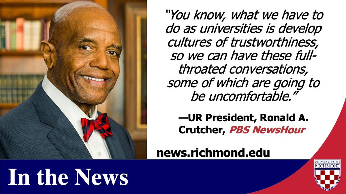 Ronald A. Crutcher (@racrutcher) discusses improving race relations via PBS @NewsHour. Thank you @CharlayneHG & @rachelwellford for the feature! https://t.co/MIu2FjIY1l https://t.co/7cXJhthAUD