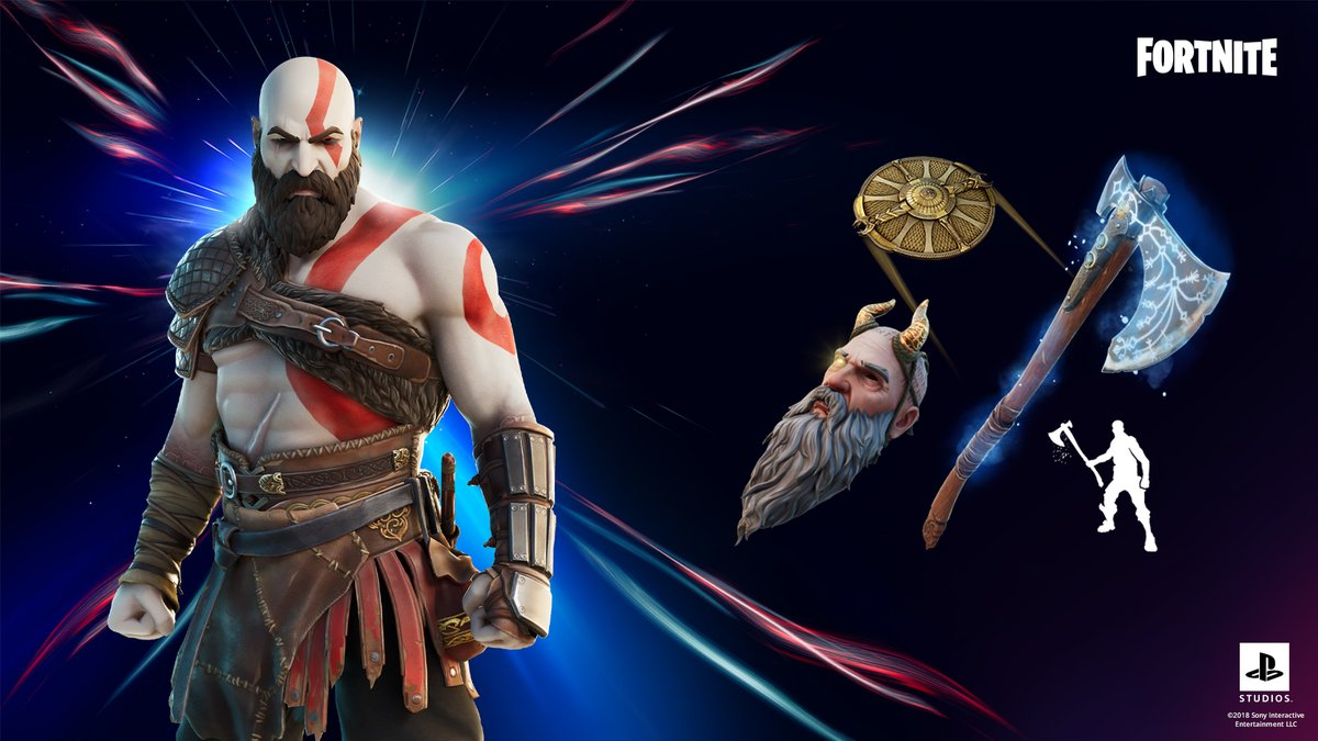 He is what the gods made him.  Grab the Oathbreaker Set which includes the Kratos Outfit and Leviathan Axe Pickaxe with its built-in Freezing Burst Emote in the Shop now!