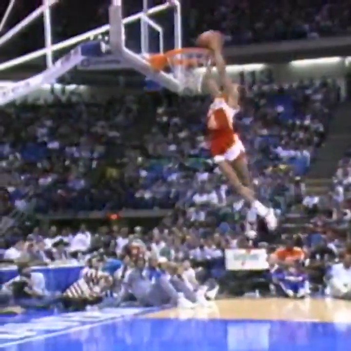 "Standing 5'7""... 1986 champion Spud Webb showed off his incredible BOUNCE in the #ATTSlamDunk contest!  Tune in to All Rise: Dominique Wilkins and the 2021 #ATTSlamDunk Judges featuring @swebb_anthony, Saturday at 12pm/et on @NBA.  All of All-Star in One Night, Sunday, TNT"