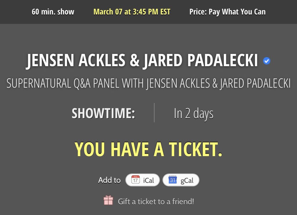 Anyone want one of the 1st to see the 2nd? Have 5 more to gift, so please retweet. #Supernatural #JaredPadalecki #JensenAckles ❤️🙏