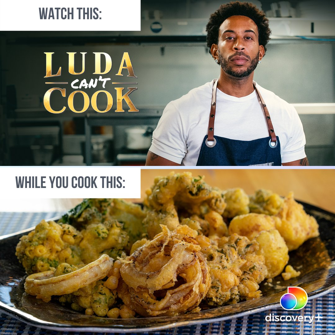 #LudaCantCook + @aartipaarti's Vegetable Pakoras = the perfect Friday night combo.   Test your cooking skills alongside @Ludacris in #LudaCantCook, streaming NOW on #discoveryplus.