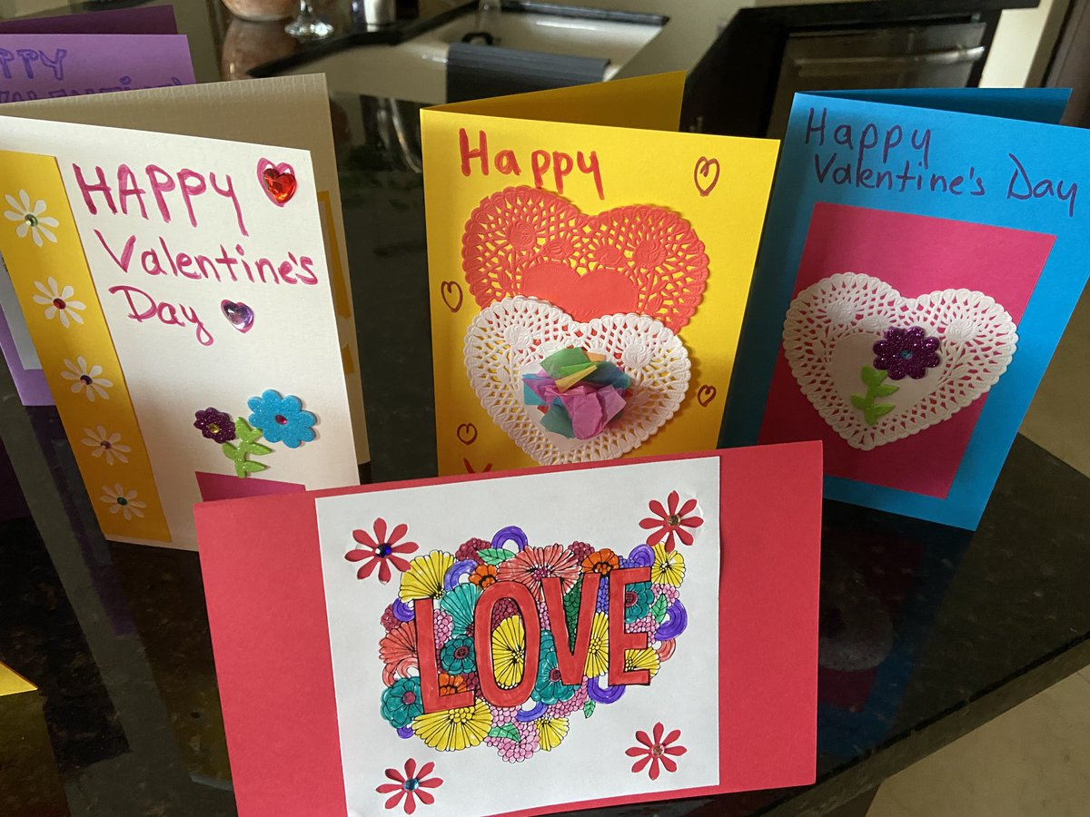 Check out the beautiful Valentine's Day cards our lovely Volunteers made!  #volunteers #valentinesday #valentine #trustbridge #trustbridgefoundation