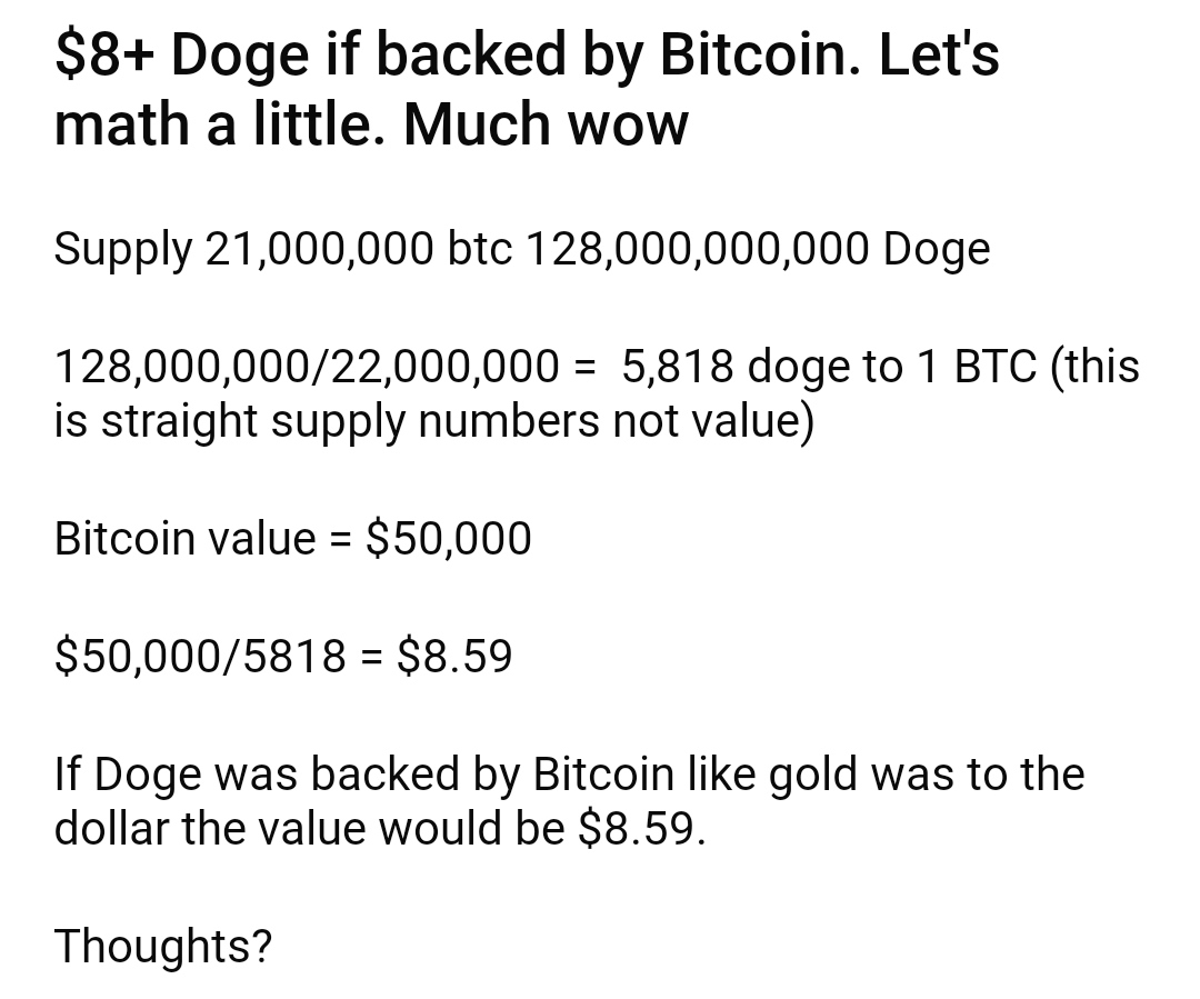 Many Doge valuations are above $5.