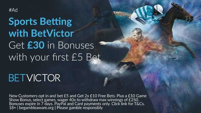 Betvictor, one of Europe's leading online gaming companies  New Customer Sign Up Offer Bet just €£5 & Get €£30 In Free Bets Offer Link below   18+T&Cs Gamble Responsibly #EFL #PL #Bet #Football #PremierLeague #Soccer #bettingtips,-