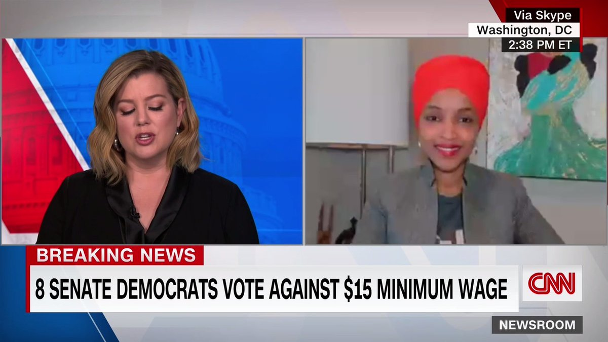 """""""I see it as a really disappointing development. We obviously are now ultimately sending money to less people than the Trump administration,"""" says Rep. Ilhan Omar on Covid relief.  """"It is a failure when we compromise ourselves out of delivering on behalf of the American people."""""""