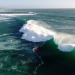 Image for the Tweet beginning: When a big swell hit