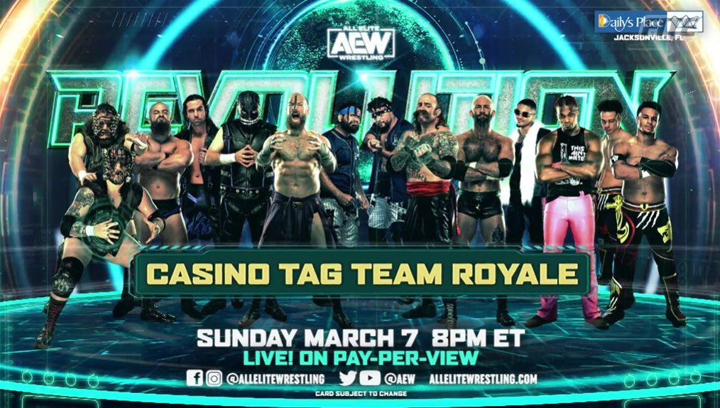 #AEWRevolution is this Sunday  @SilverNumber1 and I are going to become the number 1 contenders for the @AEW tag team championships this Sunday  Watch it live on pay per view this Sunday