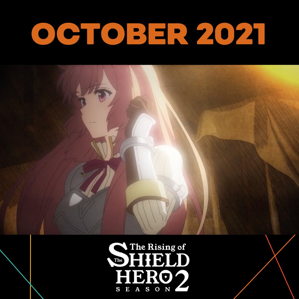 Replying to @Crunchyroll: The Rising of the Shield Hero 2 comes to Crunchyroll this October! 🛡