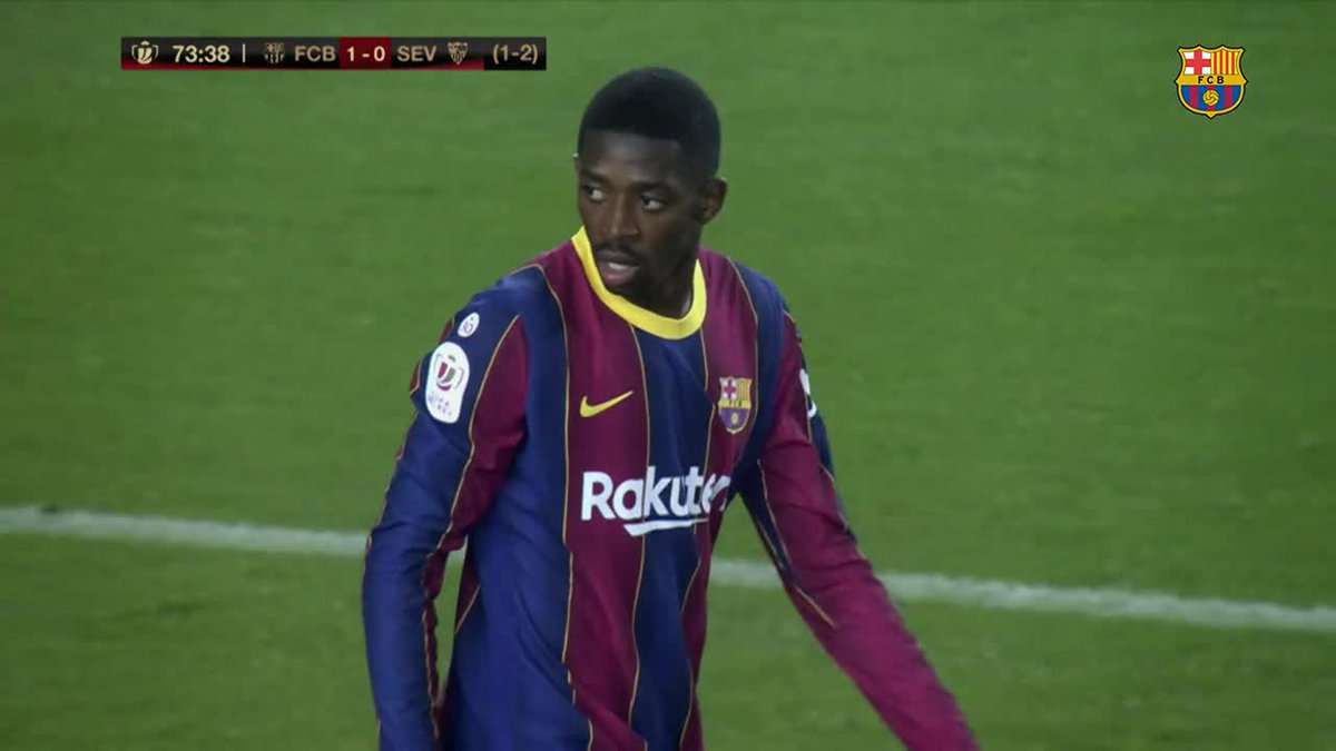 🎥 Before #BarçaSevilla, we decided to have one of our cameras follow @Dembouz throughout the game.  Here's what we saw:
