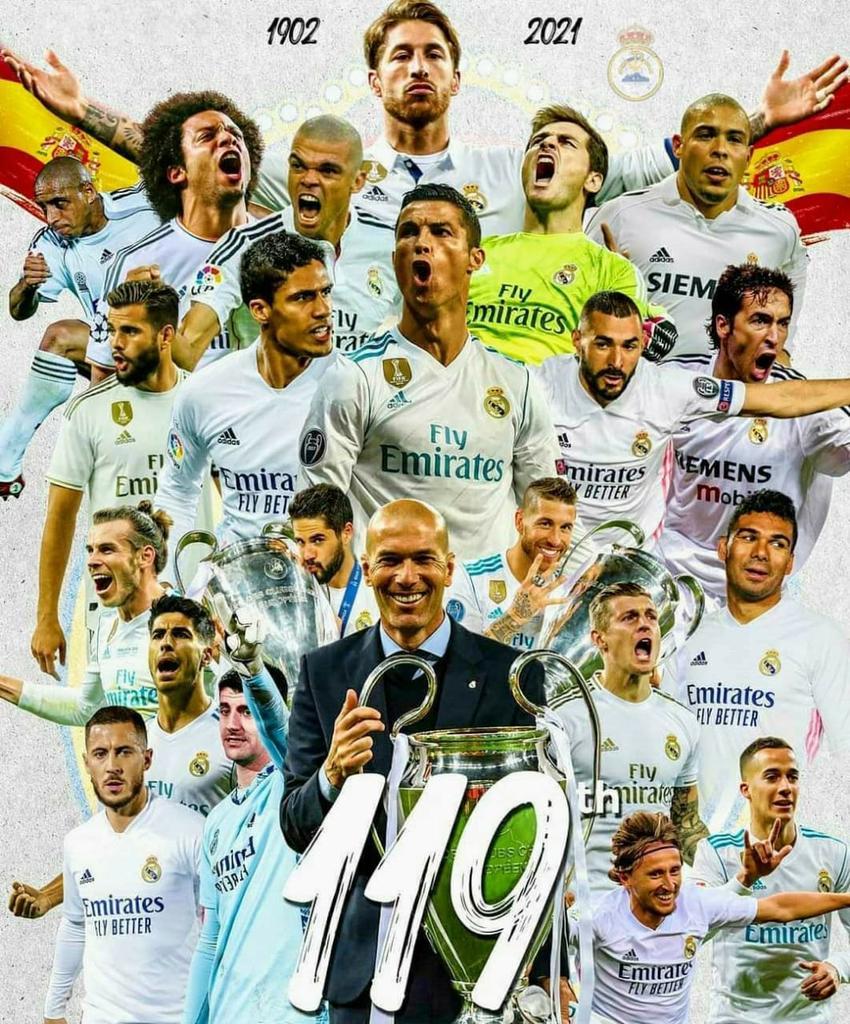 #FelizCumpleaños al mejor equipo del Mundo @realmadrid 119 🎂🎈🎀🎊🎆🎉🎖⚽️🏆 #HalaMadrid #RMCity #realmadrid #realmadrid34 #laliga #futbol #football #UEFA #fifa #zidane #ucl
