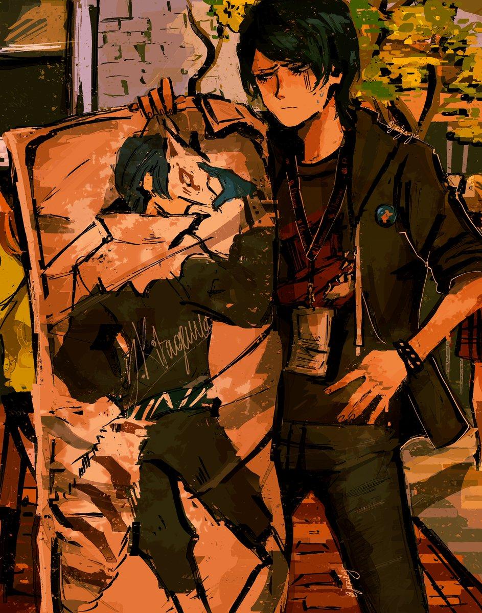 Drawing the Phantom Thieves as their English VAs part 3! Yusuke Kitagawa as Matthew Mercer #Persona5Royal #p5 #p5r