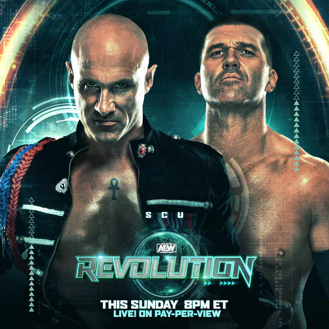 SCU have entered the casino tag-team royale this Sunday at #AEWRevolution. Quote tweet on which team you think takes the win and gets a shot at the #AEW world tag team championships?  Watch #AEWRevolution, LIVE, this Sunday on PPV 8/7c