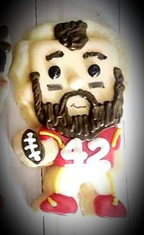 Chiefs Kingdom now and forever!!! KC loves you!!!! Thanks for being the best of the best 🥰❤💛🍪 @Shermanator_42  . Edible version of our favorite Sausage below 🤣🤣🤣 #hellosugar #customcookies #buckner #mo #ChiefsKingdom #Chiefs #decoratedsugarcookies