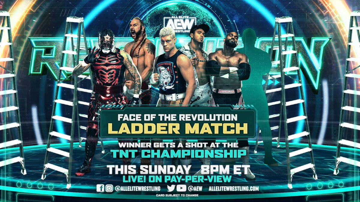 Replying to @OfficialTAZ: THIS IS BIG! Who is that last entrant? #AEWRevolution