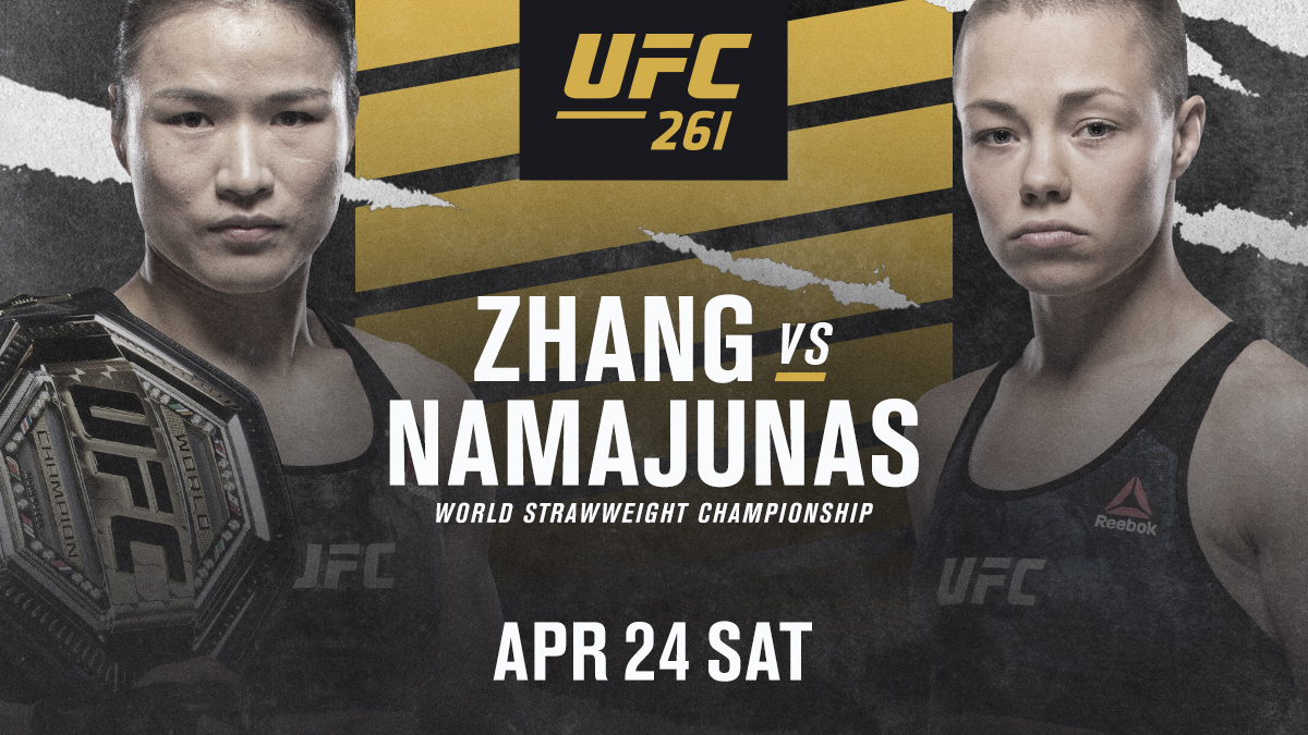 A classic in the making!   🏆 Zhang Weili faces 🌹 @RoseNamajunas at #UFC261.