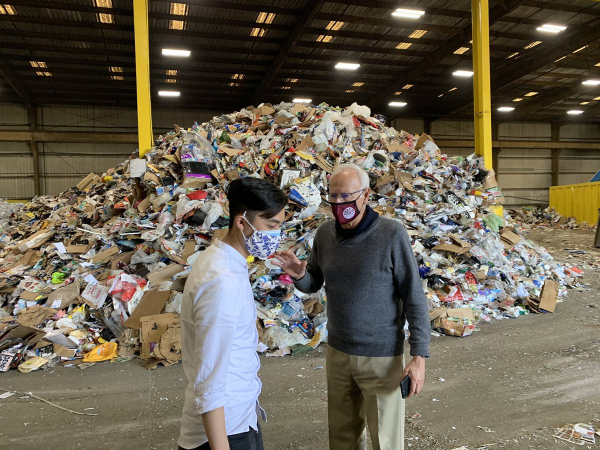 Tri-Ced Community Recycling is one of the few nonprofit recyclers left in the Bay Area. Plastic pollution from corporations that've created the single use economy has created a nightmare. All this plastic is just from ONE DAY