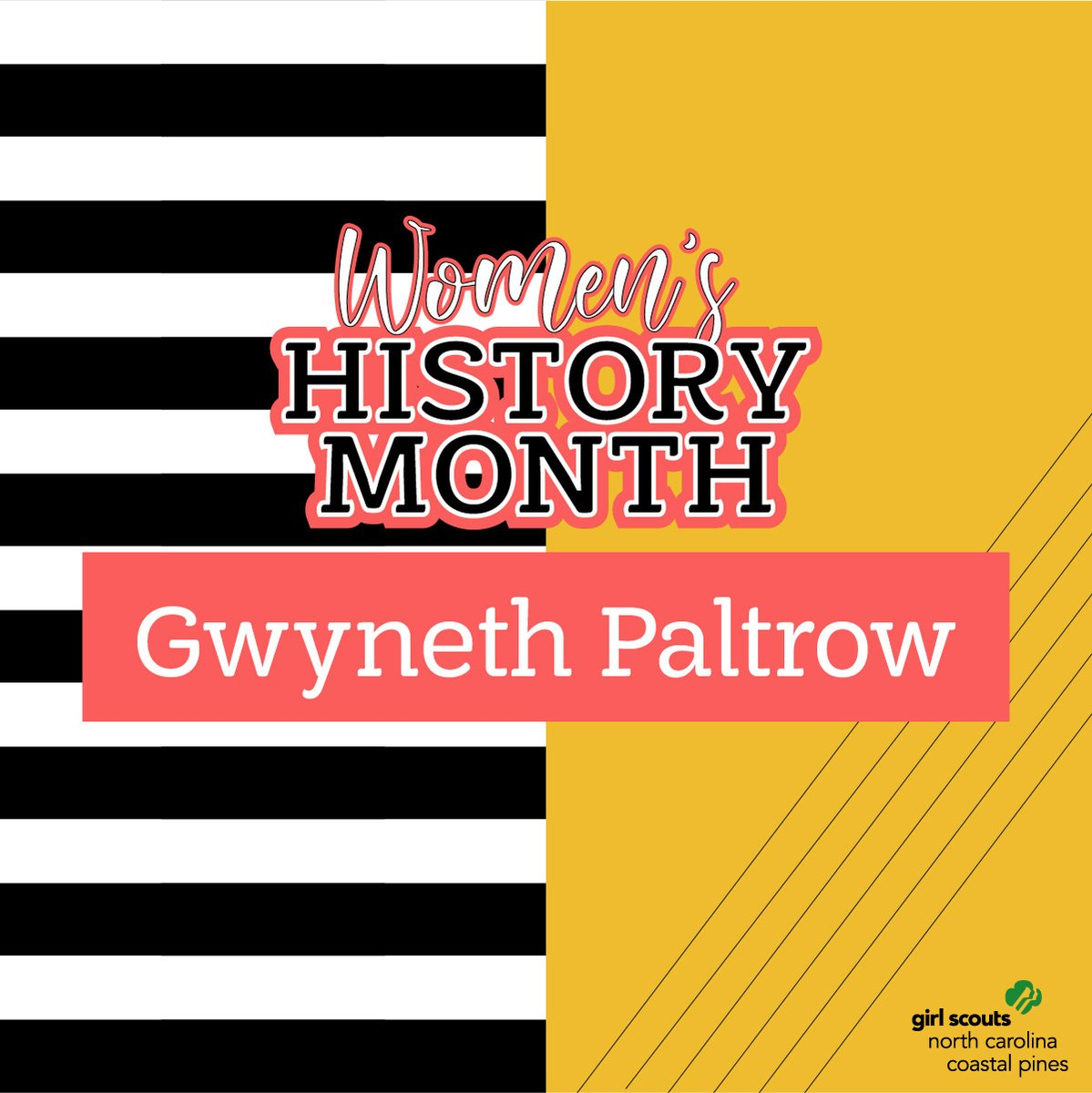 Did you know Gwyneth Paltrow was a Girl Scout? Gwyneth is an actress, businesswoman, and an advocate for women's health and wellness. https://t.co/wrID8hG3fX