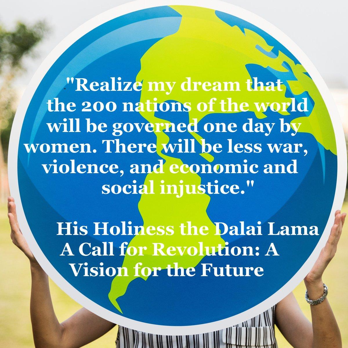 Words by The Dalai Lama, photo by raw pixel, March 8 is International Women's Day. #TrumpisGuilty #SaveDemocracy #truthmatters #republicansaretheproblem #sharethewealth #TaxtheRich #berniesanders #fascism  #democracy #progressive #arrangingdeckchairsonthetitanic #socialjustice