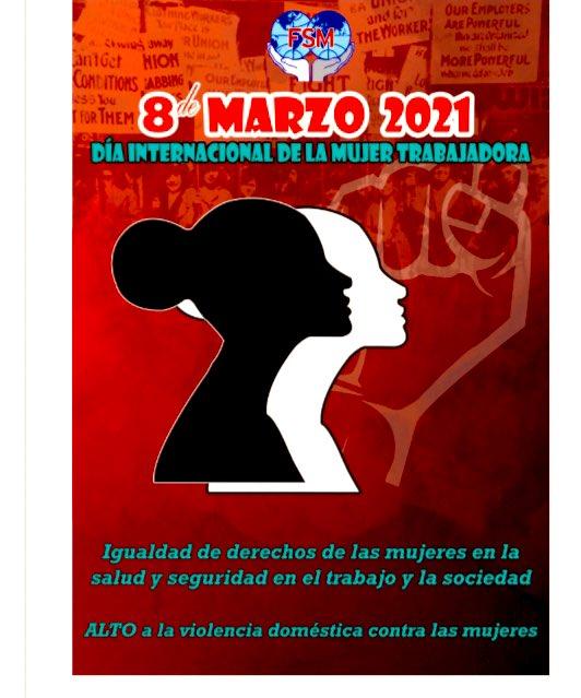"""MST on Twitter: """"#8M2021 Dia Internacional de la Mujer Trabajadora. Hoy y  siempre luchas por justicia y equidad de género. #RompeElPacto Federación  Sindical Mundial #FSM @Peoples_WFTU #Mexico Movimiento Social por la Tierra  #"""