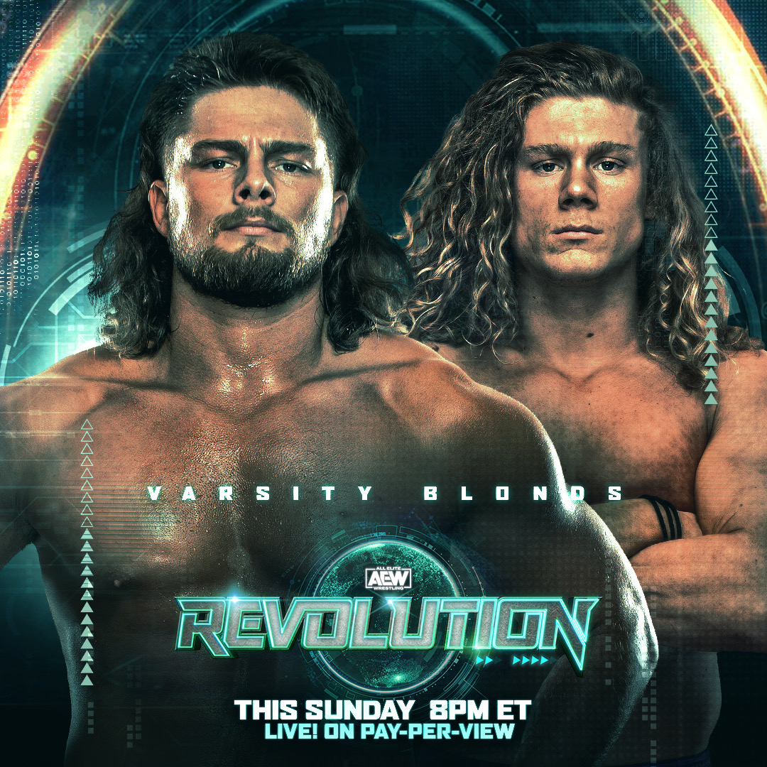 The #VarsityBlonds @FlyinBrianJr & @griffgarrison1 have entered the #AEWCasino tag-team royale this Sunday at #AEWRevolution. RT on which team you think takes the win and gets a shot at the #AEW world tag team championships?  Watch #AEWRevolution, LIVE, this Sunday on PPV 8/7c