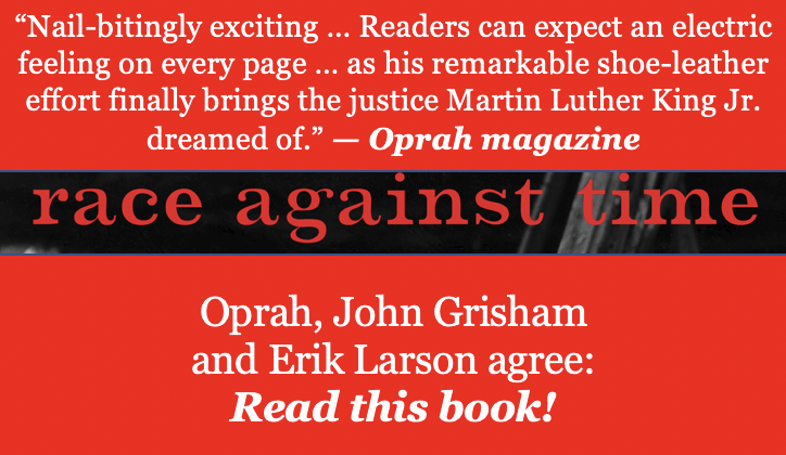 "#RaceAgainstTime is ""nail-bitingly exciting,"" @Oprah magazine says. ""Reads can expect an electric feeling on every page"" as ""the #justice #MLK dreamed of"" finally takes place. #FridayReads #TrueCrime #History #StopHate An #AntiRacism Resource for Schools & Communities."