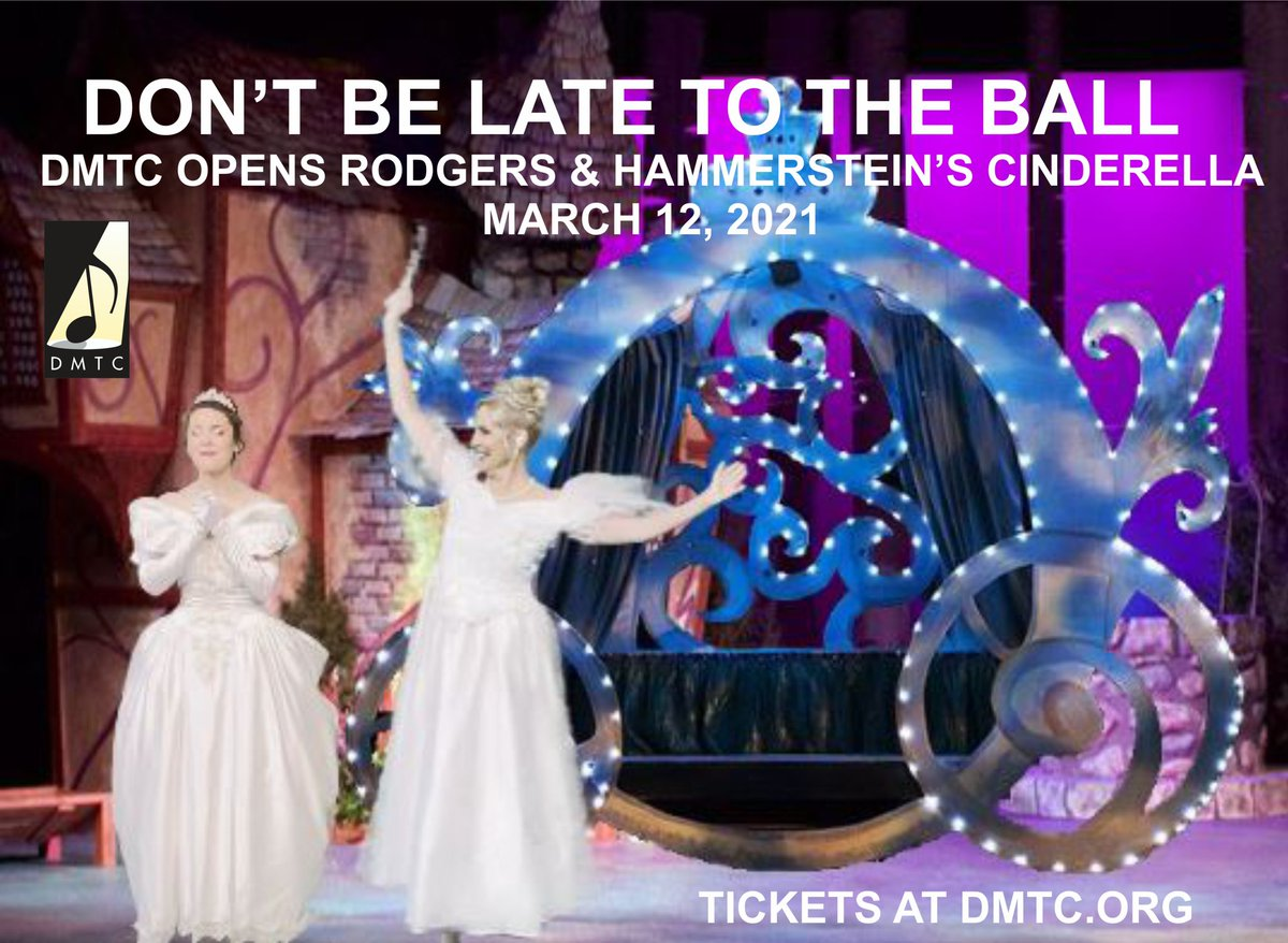 Opening next Friday, March 12, 2021, Rodgers & Hammerstein's CINDERELLA. Tickets are available at  #dmtc #broadway #family #sacramentoarea #davisca