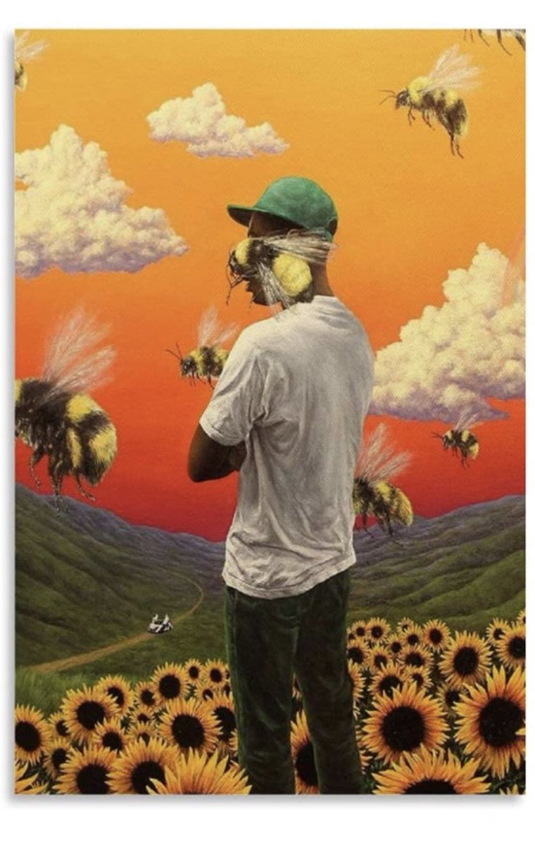 I ordered this big ass picture for my room💛 that hoe needs to hurry tf up #HappyBirthdayTylerTheCreator