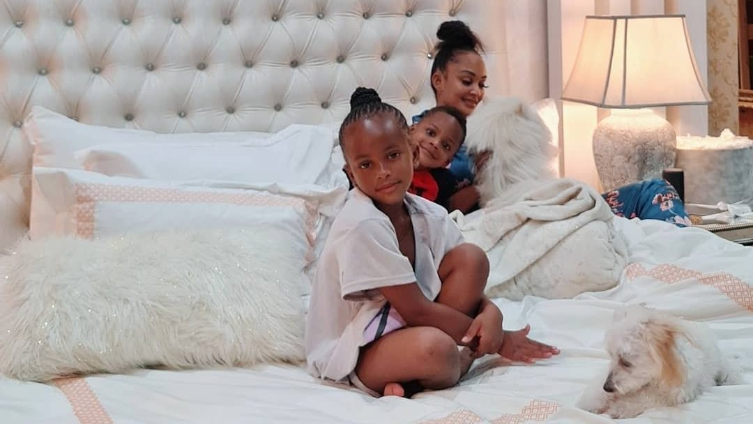 """Socialite Zari Hassan enjoys cool weekend moments with her children, Prince Nillan and Princess Tiffah. 😄  """"Nobody and I mean nobody asks more questions than these 2.""""  As a mother, you somehow need to have answers.  Photo: @ZariTheBosslady   #tukonews #family #weekendvibes"""