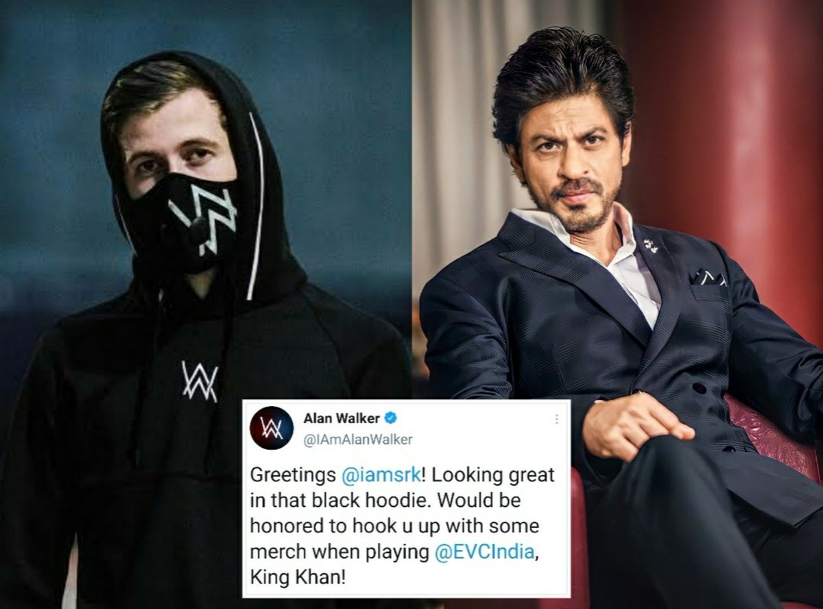 Replying to @Gaurav__2016: #Throwback    When Alanwalker tweeted about ShahRukh Khan. ❤