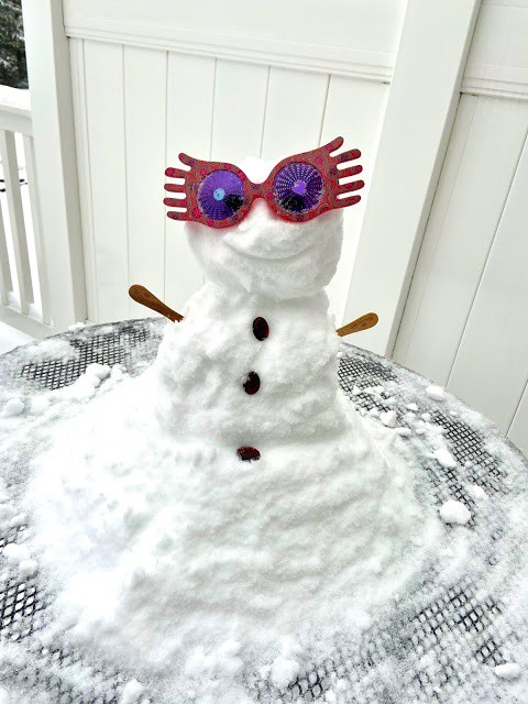 Get ready to say hello to LOONY, our snow woman of 2021!  Read more 👉   #blogging #winter #snow #lunalovegood #orlena