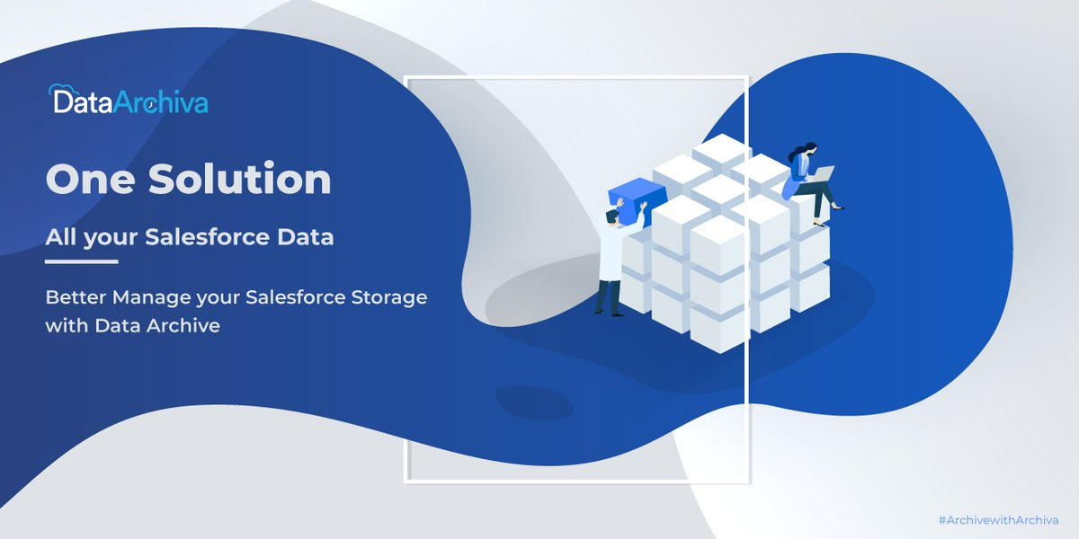 One solution for all your #Salesforce data storage-related challenges. With #DataArchiva, better manage your Salesforce storage.  #AppExchange #DataManagement #DataArchiving #BigObjects #ArchivewithDataArchiva