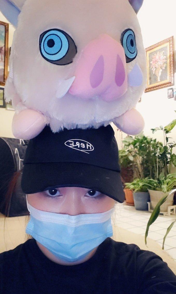 I've gotta pig on my head !  #kimetsunoyaiba #inosuke #demonslayer #plushies #piggy