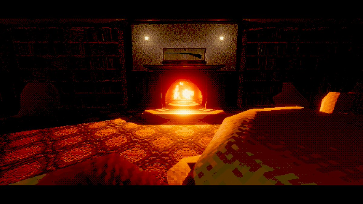 Lounge, Servants Corridor, Dining Room, Experiment Room B.  #PS1 #PSX #puzzle #survivalhorror #horror #retro #lowpoly #gamedev #indiedev #madewithunity #screenshotsaturday