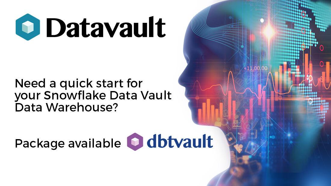 Get your #SnowflakeDB #DataWarehouse up and running fast with the #DataVault #dbt package. More information here  #getdbt #databuildtool  #dbtvault #ETL #DataAnalytics #dataengineering #datamanagement #DataAnalytics #DataAutomation