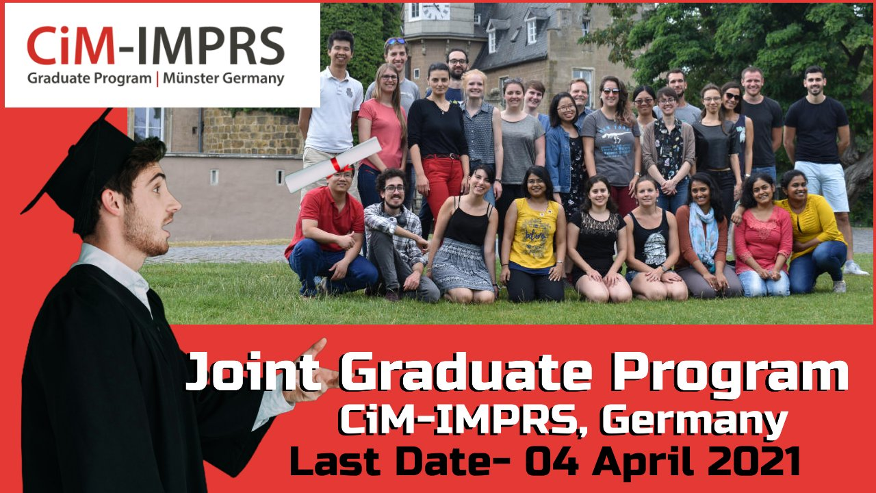 Joint Graduate Program by CiM-IMPRS Graduate Program, Germany