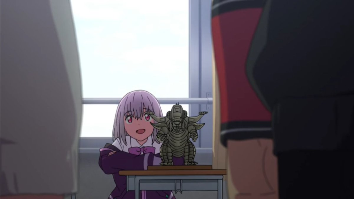 This is my New Kaiju.  I'm Gonna set it free during The school festival  ..Stop Me, if You Can  Catch an All New #SSSSGridman  Tomorrow Night @ 2:30AM. Only #Toonami, On AdultSwim