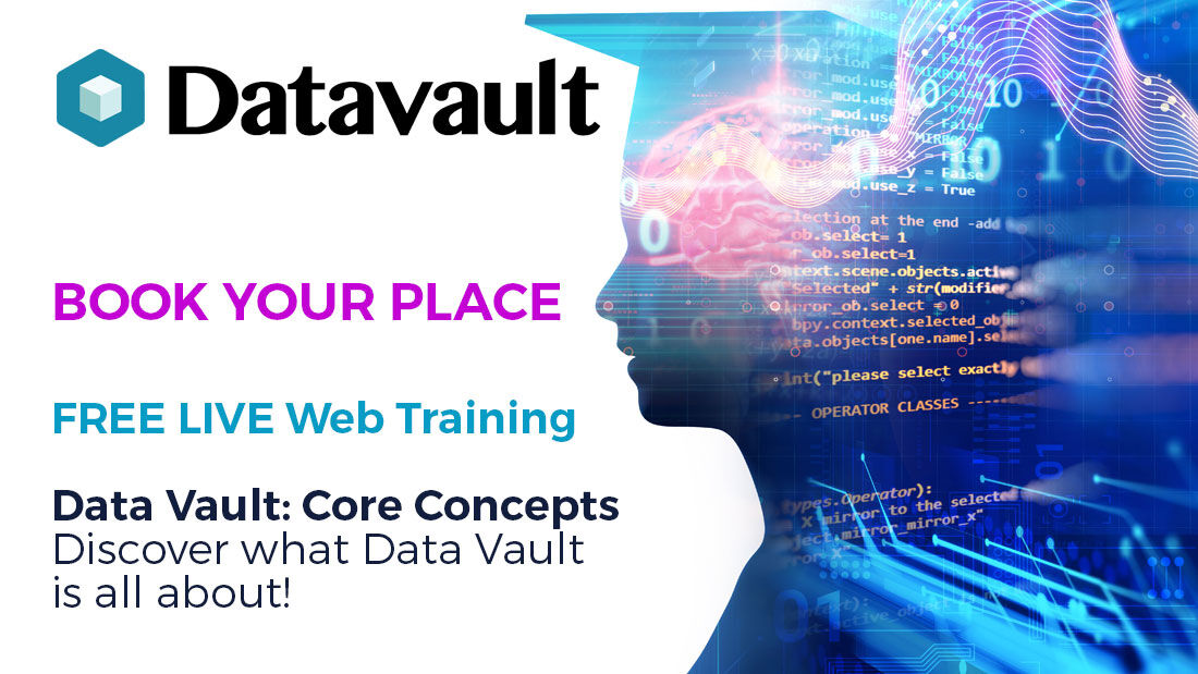 Discover what #DataVault is all about with a #FREE #WebTraining #TrainingCourse with Data Vault  #Online - Limited places available - select your dates by clicking the link  #CIO #CTO #DataAnalytics #BusinessIntelligence #Data #AgileTraining #Snowflake