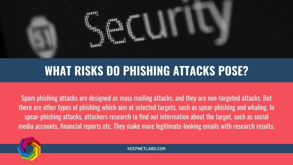 What Risks Do Phishing Attacks Pose?    #databreach #malware #ransomware #emailsecurity #datasecurity #iot #covid19 #CISO #apple #cybersecurity #hacking #technology #infosec #Fraud #tech
